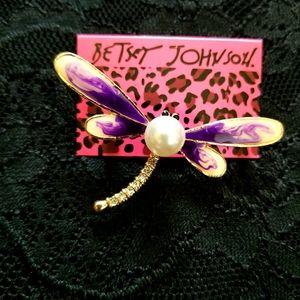 Betsey Johnson Dragonfly Brooch